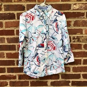 Vintage Ralph Lauren Chaps Top S Shirt Umbrellas